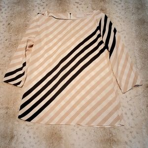 New York & Company Diagonal Striped Shell Blouse